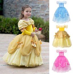 Costumes Children Girls Beauty And The Beast Kids Princess Belle Dress Up Set B1