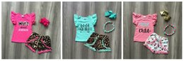 BaBy girl matching outfits online shopping - new Summer baby girls children clothes pom pom shorts wild child about Jesus leopard outfits ruffles boutique match