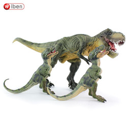 $enCountryForm.capitalKeyWord Australia - Wiben 3pcs  lot Jurassic Tyrannosaurus Rex T -rex Dinosaur Toys Animal Model Collection Learning J190719 J190720