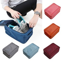 fabric square folding storage box NZ - Portable Waterproof Sports Shoe Bag Folding Box Travel Luggage Organizer Zipper Pouch Bra Cosmetic Makeup Underwear Storage Bags