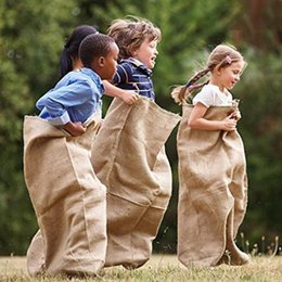 kids games race UK - Burlap Potato Sacks Race Bags Sturdy Rugged Sacks Natural Eco-Friendly Jute Bags Kids Party Games