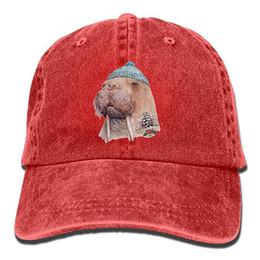 $enCountryForm.capitalKeyWord UK - 2019 New Plain Baseball Caps Tattooed Walrus with Cute Hat Trend Printing Cowboy Hat Fashion Baseball Cap for Men and Women Black