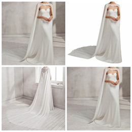 Organza Wraps Jackets Australia - White Wedding Cloak Jacket Bridal Wraps Bolero Wedding Accessories Lace Applique 2019 Bridal Cape Shawl Ivory Wedding Cape Jackets Cheap