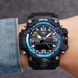 Men S Big Watch Australia - New Top Brand Men Sports Watches S Waterproof LED Digital Watch Date Japan Movement Big Watch Relogio Masculino