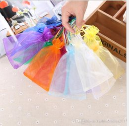 drawstring pouch 18cm UK - Jewelry Bags Organza Jewelry Wedding Party Xmas Gift Bags gold silver 18 colors With Drawstring 7*9cm 9*12cm 10*15cm 13*18cm 20*30cm