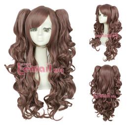 $enCountryForm.capitalKeyWord Australia - xiuli 0001880 Mixed colors Lolita Girl women long wavy Cosplay hair wig 2 ponytail+CAP