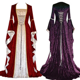cosplay costumes for plus size Australia - New Medieval Dress Halloween Costumes for Women Cosplay Palace Noble Long Robes Ancient Bell Sleeve Princess Costume Dress Y190924