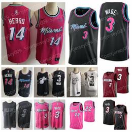 $enCountryForm.capitalKeyWord Australia - 2019 NEW Cheap Jimmy 22 Butler Miami CITY Heat Dwayne 3 Wade Jerseys Game Players 3 Dwyane 14 Tyler Herro %Two Basketball Jerseys