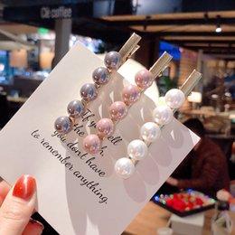 Pearl Flower Hair Clip Australia - 2019 Fashion Imitiation Pearl Hair Clips Barrettes Headwear for Women Girls Handmade Pearl Flowers Hairpins Hair Jewelry Gift Accessories
