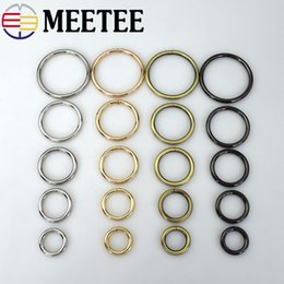 Inner Belt Australia - Meetee Metal D O Shape Ring Buckle Circle Connection Bag Strap button Belt Dog Collar open inner diameter Parts Accessories