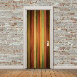 $enCountryForm.capitalKeyWord Australia - Renovation door colorful door wall Sticker Graphic Unique Mural Cosplay Gifts for living room home decoration Pvc Decal paper WN653