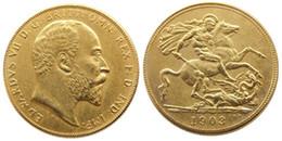 $enCountryForm.capitalKeyWord Australia - UK Rare 1903 British coin King Edward VII 1 Sovereign Matt 24-K Gold Plated Copy Coins Free Shipping