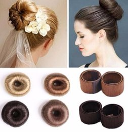 foam bun accessory NZ - 2019 Hot Bun Maker Bands Hair Clip Crab Scrunchie Foam Sponge Hair Styling Tool Princess Hairstyls Hair Accessories