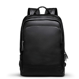 simple men bags 2019 - JIULINMen's Backpack Simple High Quality Leather Backpack Male Leather Fashion Trend Youth Leisure Travel Computer