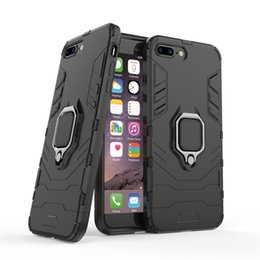 armor x Australia - For iPhone Xs Max Xr 6 6s 7 8 Plus X Case Cover Hard Hybrid Armor Silicone Edge Matte Finished Non-Fingerprint with Stand