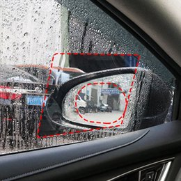 car side mirror stickers 2019 - 2PCS Car Rearview Mirror Protective Film Anti Fog Window Clear Rainproof Rear View Mirror Protective Soft Film Side Wind