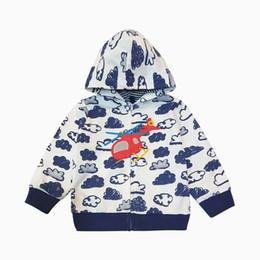year old boy jacket 2019 - Kids Short Hooded Jacket Cartoon Print Jacket 1-3 Years Old Zipper Jacket Boys Designer Winter Coats 48 cheap year old b