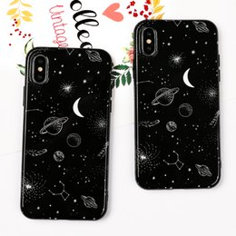 universe case NZ - Black Universe Planet Case For iPhone XS XR XS Max X 8 7 6 6S Plus IMD Soft Cute Fashion Phone Back Cover Cases Gift