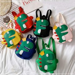 dinosaur children bag Australia - 1 PC Baby Cute Dinosaur Backpack Children Cartoon Dinosaur Double Shoulder Bag Kids Kindergarten School Bag Lovely Backpack New