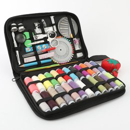 Wholesale wholesale sewing tools suit 30 threads quantity easy to carry home and travel sewing and mending needle and thread package 112 pieces sets