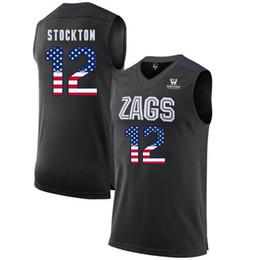 efbbc9b880e Mens John Stockton Jersey Custom Gonzaga Bulldogs College Basketball Jerseys  Fashion USA Flag High Quality Stitched Size S-XXL
