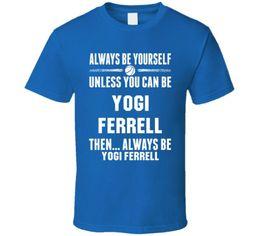 Free Cooling Fan Australia - Yogi Ferrell Be Yourself Dallas Basketball Cool Fan T ShirtFunny free shipping Unisex Casual Tshirt