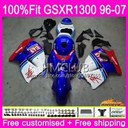 $enCountryForm.capitalKeyWord Australia - Injection For SUZUKI Hayabusa GSXR1300 GSXR 1300 96 97 98 99 00 01 07 Blue White Top 22HM.16 GSX R1300 1996 1997 1998 1999 2000 2001 Fairing