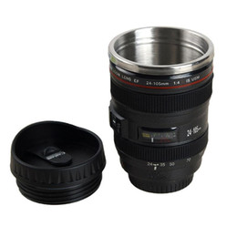 $enCountryForm.capitalKeyWord UK - Novelty Camera Lens Double Layer Cups Creative 400ml Camera Lens Mug Portable Stainless Steel Tumbler Travel Milk Coffee Mug BH1348 TQQ