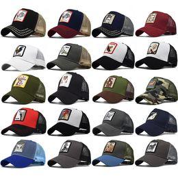Toptan satış Yetişkinler Için womens hayvan Nakış Caps Womens Yaz Trucker Şapka Snapbacks Hip Hop Beyzbol Topu Kap Tasarımcı Güneşlik Parti Şapkaları HH9-2230