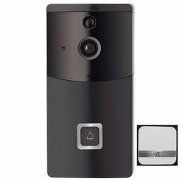 Alarm Pir Camera Australia - WIFI Video HD Security Camera Doorbell Video B10 Real-Time Intercom PIR Motion Detection Smart Monitor Alarm with Doorbell Option 5pc lot
