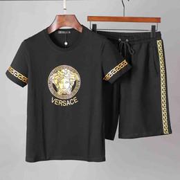Petal Suits Australia - 2019 Manufacturers selling men's sportswear Designer Short sleeve suits Brand Fashion Letter Sports Suit Running suit