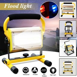 Battery fluorescent light online shopping - Rechargeable LED Worklight in Portable Flood Light W W W LM Spotlight Flood Spot Work Light