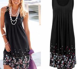 $enCountryForm.capitalKeyWord Australia - Womens Floral Sundress Knee Length Summer Loose Sleeveless Dresses New Plus Size good quality drop shipping designer clothes