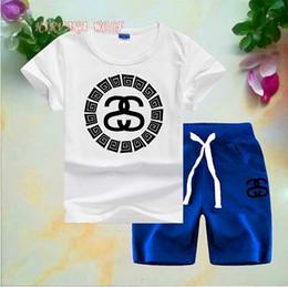 $enCountryForm.capitalKeyWord Australia - 2020 Children Sets 1-8T Kids T-shirt And Short Pants 2Pcs sets Baby Boys Girls 94% Cotton Diamond Design Printing Style Summer Sets