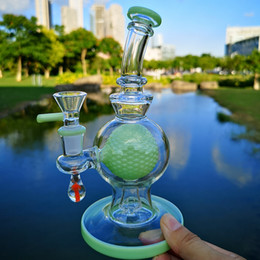 $enCountryForm.capitalKeyWord UK - 7 Inch Heady Glass Bong Ball Perc Bongs Showhead Percolator Water Pipes Thick Unique Green Purple Oil Dab Rigs 14mm Joint With Bowl