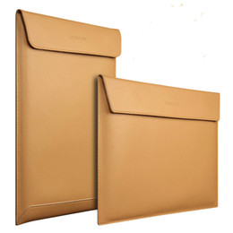 Macbook Leather NZ - Computer Package Macbook Air13 case Inch Pro Inner Tank Package 11 12 15 Protect Sheath Cowhide Envelope Genuine Leather