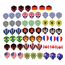 Wholesale 60pcs Cool Standard Dart Flights Outdoor Wing Tail Various Pattern Nice Darts Flight