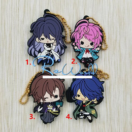 Discount anime mobile phone - 2019 New Arrival HypnosisMic -Division Rap Battle DRB Original Japanese anime figure rubber mobile phone charms key chai