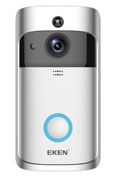 Doorbell security online shopping - 1PCS EKEN V5 Smart WiFi Video Doorbell Camera Visual Intercom With Chime Night vision IP Door Bell Wireless Home Security Camera