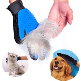 dog grooming tables wholesale NZ - Magic Cleaning Brush Glove for Pet Dog Cat Massage Grooming Gloves Removal Deshedding Tools Silicone Hair Catcher Free Shipping
