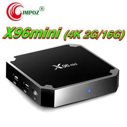 1 ШТ. X96 Мини S905W Android TV Box 1 ГБ 8 ГБ 2 ГБ 16 ГБ Четырехъядерный процессор 100 М Lan 2.4 Г Wi-Fi 4K Android 7.1 Колыбель 4K Смарт Android TV Box