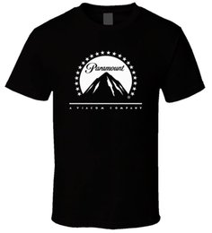 Men S Tees Australia - Paramount White Logo Black Men T Shirt Size S 5Xl Male Teeshirt Summer Top Tees Man Brand Tee Shirt