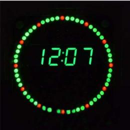 Ingrosso Orologio elettronico Kit fai da te Rotazione LED Orologio elettronico Kit fai da te Rotante Display a led digitale con quattro modalità FR4 Livello militare