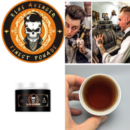 Wholesale skull clay online – design New Skull Retro Hair Oil Wax Big Cock Oil Head Big Back Strong Styling Hair Gel Mud Dry Stereotypes Type Hair Clay