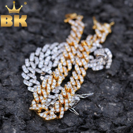 $enCountryForm.capitalKeyWord Australia - The Bling King 9mm Micro Pave Iced Cz Cuban Link Necklaces Chains Gold Color Luxury Bling Bling Jewelry Fashion Hiphop For Men MX190730