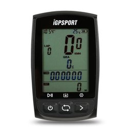 $enCountryForm.capitalKeyWord UK - iGPSPORT GPS Cycling Computer Rechargeable IPX7 Water Resistant Anti-glare Screen Bike Bicycle GPS Computer Odometer with Mount #627017