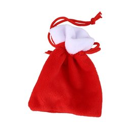 wholesale spice packaging NZ - Christmas Party Favors Fashion Packaging Bags Wedding Candy Cookies Velvet Drawstring Gifts Pouches Red Bag Storage Bottles Jars