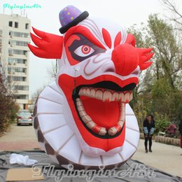 scary puppets Australia - 4m Scary Puppet Head Red Awesome Inflatable Clown Halloween Ghost Knave Inflation