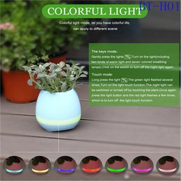 $enCountryForm.capitalKeyWord NZ - new music plant decompress pot speaker bluetooth flower pot speaker touch play piano tone with soft night light as gift for X-mas