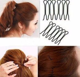 $enCountryForm.capitalKeyWord Australia - 2pc Plastic Hair Loop Styling Tool Tail Hair Braid Ponytail Styling Clip Bun Maker For Girls Hairstyle F